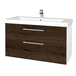 Dreja - Kúpeľňová skrinka Q MAX SZZ2 105 - N01 Bílá lesk / Úchytka T03 / D21 Tobacco (332105C)