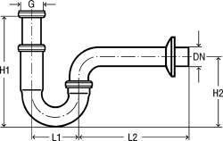 """VIEGA  s.r.o. - Sifon umyv.5/4""""x32 """"S""""  spodek, mschrom, Viega, trubkový V 305611 (V 305611), fotografie 2/3"""