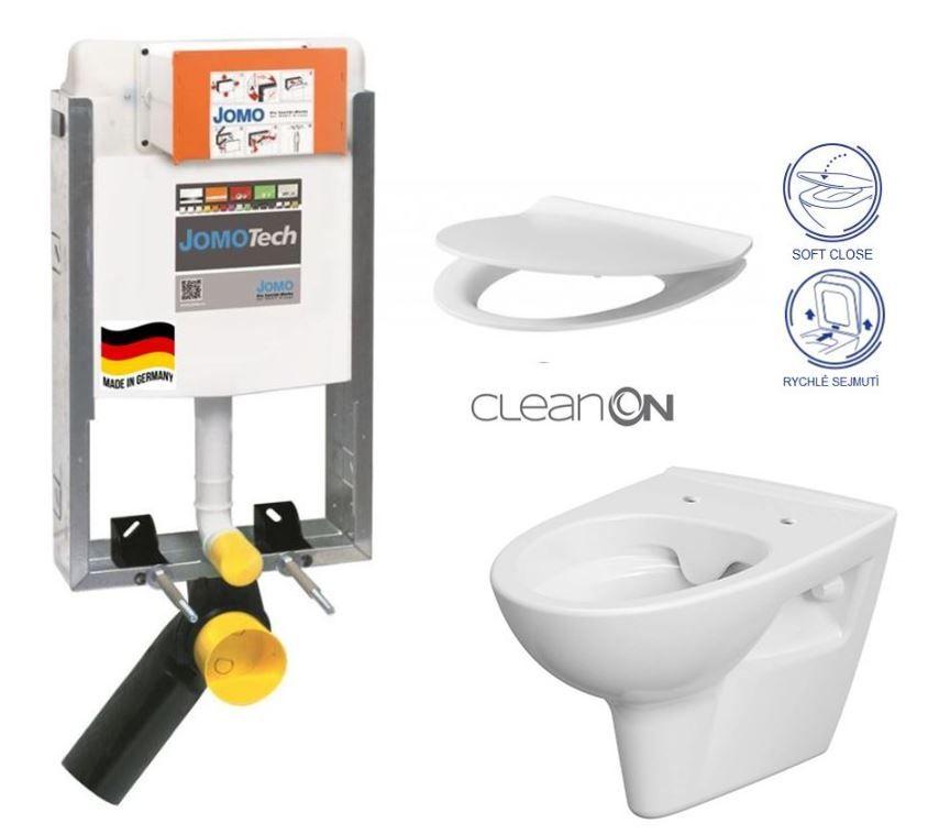 JOMO modul pre zamurovanie bez sedátka + WC CERSANIT CLEANON PARVA + SEDADLO 164-14600479-00 PA2