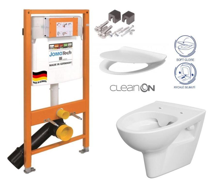 JOMOTech modul pre závesné WC bez sedátka + WC CERSANIT CLEANON PARVA + SEDADLO 174-91100700-00 PA2
