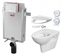 AKCE/SET/ALCAPLAST - SET Renovmodul - predstenový inštalačný systém + WC CERSANIT CLEANON Parva + SEDADLO (AM115/1000 X PA2)