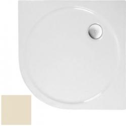 POLYSAN - SONATA sprchová sprchová vanička akrylátová, štvrťkruh 90x90cm, R550, pergamon (57411PERG)