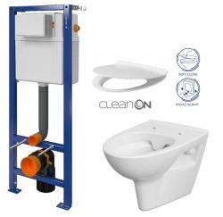 CERSANIT nádržka AQUA 02 bez tlačidla + WC CERSANIT CLEANON PARVA + SEDADLO (S97-063 PA2)