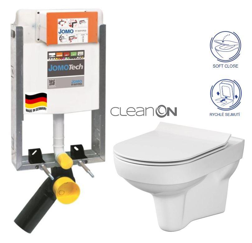 JOMO modul pre zamurovanie bez sedátka + WC CERSANIT CITY NEW CLEANON + WC SEDENIE SLIM 164-14600479-00 CI2