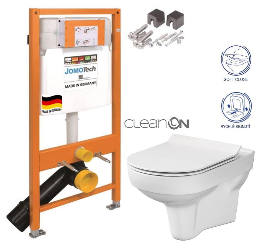 JOMOTech modul pre závesné WC bez sedátka + WC CERSANIT CITY NEW CLEANON + WC SEDENIE SLIM 174-91100700-00 CI2