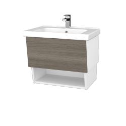 Dreja - Kúpeľňová skriňa INVENCE SZZO 65 (umývadlo Harmonia) - L01 Bílá vysoký lesk / D03 Cafe (147068)