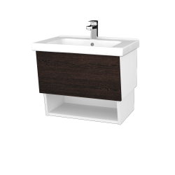 Dreja - Kúpeľňová skriňa INVENCE SZZO 65 (umývadlo Harmonia) - L01 Bílá vysoký lesk / D08 Wenge (147105)