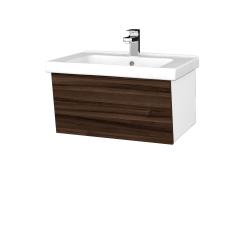 Dreja - Kúpeľňová skriňa INVENCE SZZ 65 (umývadlo Harmonia) - L01 Bílá vysoký lesk / D06 Ořech (176259)