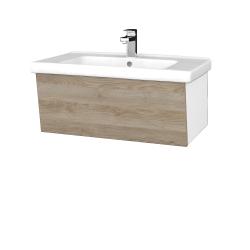 Dreja - Kúpeľňová skriňa INVENCE SZZ 80 (umývadlo Harmonia) - L01 Bílá vysoký lesk / D17 Colorado (178994)
