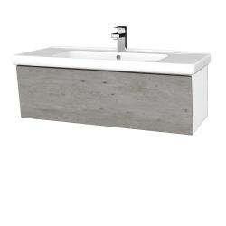 Dreja - Kúpeľňová skriňa INVENCE SZZ 100 (umývadlo Harmonia) - L01 Bílá vysoký lesk / D01 Beton (180423)