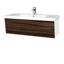 Dreja - Kúpeľňová skriňa INVENCE SZZ 100 (umývadlo Harmonia) - L01 Bílá vysoký lesk / D06 Ořech (180478)