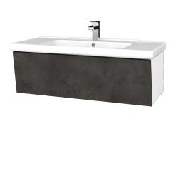 Dreja - Kúpeľňová skriňa INVENCE SZZ 100 (umývadlo Harmonia) - L01 Bílá vysoký lesk / D16 Beton tmavý (180539)