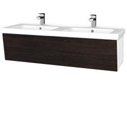 Dreja - Kúpeľňová skriňa INVENCE SZZ 125 (dvojumývadlo Harmonia) - L01 Bílá vysoký lesk / D08 Wenge (184339)