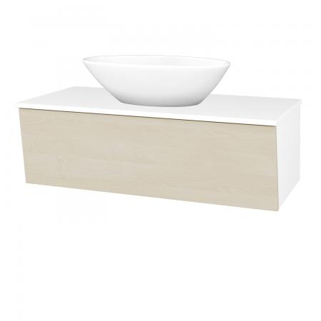 Dreja - Kúpeľňová skriňa INVENCE SZZ 100 (umývadlo Triumph) - L01 Bílá vysoký lesk / D02 Bříza (183912)