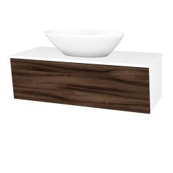 Dreja - Kúpeľňová skriňa INVENCE SZZ 100 (umývadlo Triumph) - L01 Bílá vysoký lesk / D06 Ořech (183950)