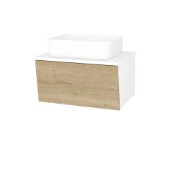 Dreja - Kúpeľňová skriňa INVENCE SZZ 65 (umývadlo Joy) - L01 Bílá vysoký lesk / D09 Arlington (176853)