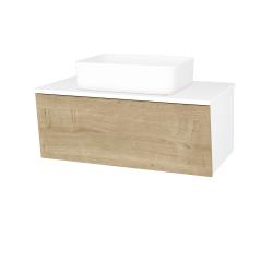 Dreja - Kúpeľňová skriňa INVENCE SZZ 80 (umývadlo Joy) - L01 Bílá vysoký lesk / D09 Arlington (179519)