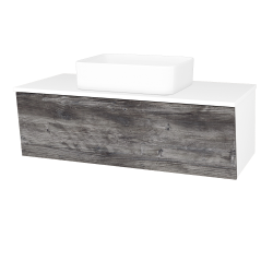 Dreja - Kúpeľňová skriňa INVENCE SZZ 100 (umývadlo Joy) - L01 Bílá vysoký lesk / D10 Borovice Jackson (182243)