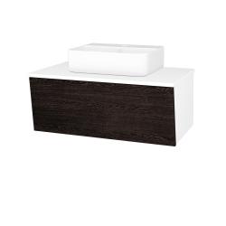 Dreja - Kúpeľňová skriňa INVENCE SZZ 80 (umývadlo Joy 3) - L01 Bílá vysoký lesk / D08 Wenge (181062)