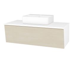 Dreja - Kúpeľňová skriňa INVENCE SZZ 100 (umývadlo Joy 3) - L01 Bílá vysoký lesk / D02 Bříza (183332)