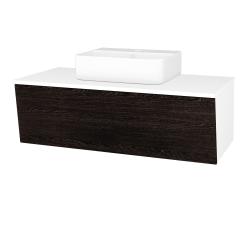 Dreja - Kúpeľňová skriňa INVENCE SZZ 100 (umývadlo Joy 3) - L01 Bílá vysoký lesk / D08 Wenge (183387)