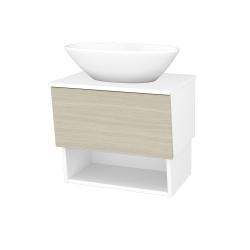 Dreja - Kúpeľňová skriňa INVENCE SZZO 65 (umývadlo Triumph) - L01 Bílá vysoký lesk / D04 Dub (178260)