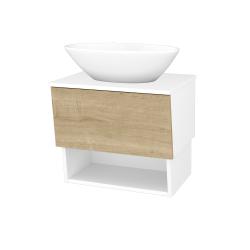 Dreja - Kúpeľňová skriňa INVENCE SZZO 65 (umývadlo Triumph) - L01 Bílá vysoký lesk / D09 Arlington (178307)
