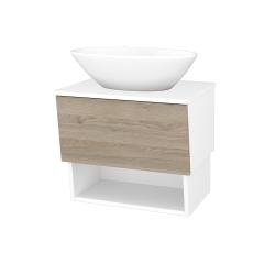 Dreja - Kúpeľňová skriňa INVENCE SZZO 65 (umývadlo Triumph) - L01 Bílá vysoký lesk / D17 Colorado (178352)