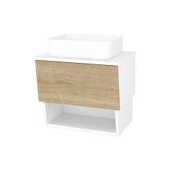 Dreja - Kúpeľňová skriňa INVENCE SZZO 65 (umývadlo Joy) - L01 Bílá vysoký lesk / D09 Arlington (176563)