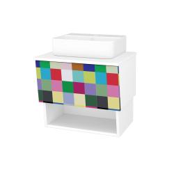 Dreja - Kúpeľňová skriňa INVENCE SZZO 65 (umývadlo Joy 3) - L01 Bílá vysoký lesk / IND Individual (177782)