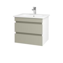 Dreja - Kúpeľňová skriňa MAJESTY SZZ2 60 - L01 Bílá vysoký lesk / L04 Béžová vysoký lesk (175207)