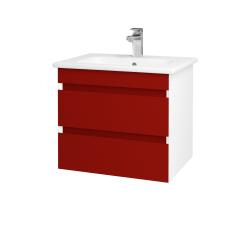 Dreja - Kúpeľňová skriňa MAJESTY SZZ2 60 - L01 Bílá vysoký lesk / M07 Červená mat (175252)