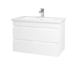 Dreja - Kúpeľňová skriňa MAJESTY SZZ2 80 - L01 Bílá vysoký lesk / M01 Bílá mat (175337)
