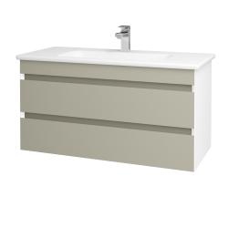 Dreja - Kúpeľňová skriňa MAJESTY SZZ2 100 - L01 Bílá vysoký lesk / L04 Béžová vysoký lesk (175573)