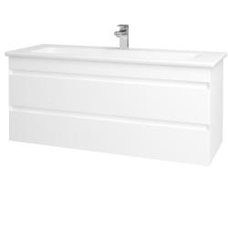 Dreja - Kúpeľňová skriňa MAJESTY SZZ2 120 - L01 Bílá vysoký lesk / M01 Bílá mat (175696)