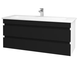 Dreja - Kúpeľňová skriňa MAJESTY SZZ2 120 - L01 Bílá vysoký lesk / M03 Černá mat (175702)