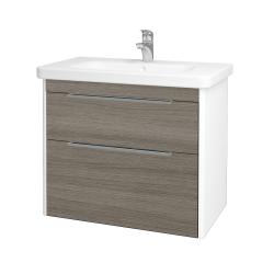 Dreja - Kúpeľňová skriňa ENZO SZZ2 80 - L01 Bílá vysoký lesk / D03 Cafe (187071)
