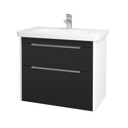 Dreja - Kúpeľňová skriňa ENZO SZZ2 80 - L01 Bílá vysoký lesk / L03 Antracit vysoký lesk (187194)