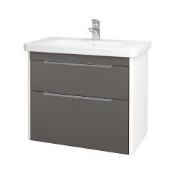Dreja - Kúpeľňová skriňa ENZO SZZ2 80 - L01 Bílá vysoký lesk / N06 Lava (187248)