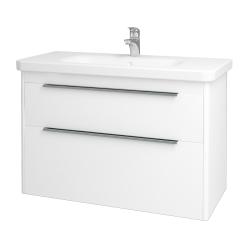 Dreja - Kúpeľňová skriňa ENZO SZZ2 100 - L01 Bílá vysoký lesk / M01 Bílá mat (187446)