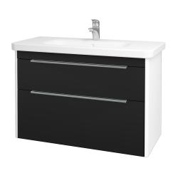 Dreja - Kúpeľňová skriňa ENZO SZZ2 100 - L01 Bílá vysoký lesk / N08 Cosmo (187491)