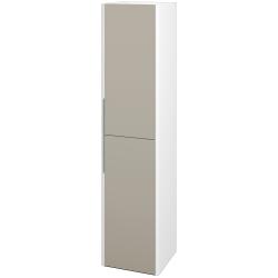 Dreja - Skriňa vysoká ENZO SVD2 35 - L01 Bílá vysoký lesk / M05 Béžová mat / Pravé (188054P)
