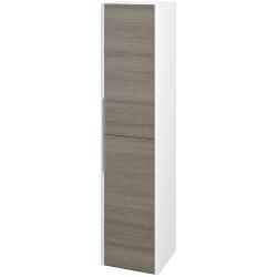 Dreja - Skriňa vysoká ENZO SVD2 35 - L01 Bílá vysoký lesk / D03 Cafe / Levé (188061)