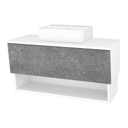 Dreja - Kúpeľňová skriňa INVENCE SZZO 100 (umývadlo Joy 3) - L01 Bílá vysoký lesk / D20 Galaxy (248833)