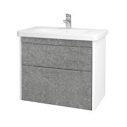 Dreja - Kúpeľňová skriňa ENZO SZZ2 80 - L01 Bílá vysoký lesk / D20 Galaxy (250775)
