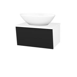 Dreja - Kúpeľňová skriňa INVENCE SZZ 65 (umývadlo Triumph) - L01 Bílá vysoký lesk / L03 Antracit vysoký lesk (327231)