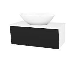 Dreja - Kúpeľňová skriňa INVENCE SZZ 80 (umývadlo Triumph) - L01 Bílá vysoký lesk / L03 Antracit vysoký lesk (327262)