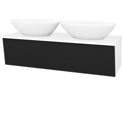 Dreja - Kúpeľňová skriňa INVENCE SZZ 125 (2 umývadlá Triumph) - L01 Bílá vysoký lesk / L03 Antracit vysoký lesk (327347)