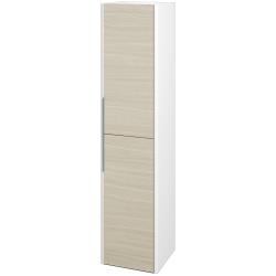 Dreja - Skriňa vysoká ENZO SVD2 35 - L01 Bílá vysoký lesk / D04 Dub / Pravé (188078P)