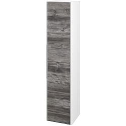 Dreja - Skriňa vysoká ENZO SVD2 35 - L01 Bílá vysoký lesk / D10 Borovice Jackson / Pravé (188115P)